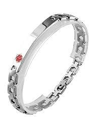 type 2 diabetes al alert 316l snless steel link uni bracelet 8