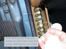 in the tank 240 volvo tank pump and sender a good starting point any diagnosis is to check the power or voltage at the source because the fuse panel itself is a frequent home of poor