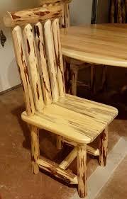 rustic log furniture ideas. Montana Pioneer Rustic Log Dining Chair Furniture Ideas A