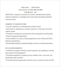 Cashier Resume Template 16 Free Samples Examples Format