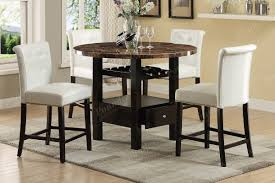 5 pc dining set counter height table cream high chair faux 4 chair high dining table