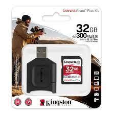 Thẻ Nhớ SD Kingston Canvas React Plus cho camera quay phim chuyên nghiệp  4K/8K 32GB MLPR2/32GB - BEN - Thẻ nhớ máy ảnh
