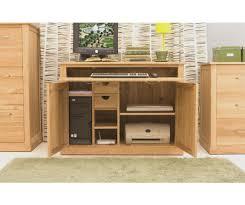 hidden office desk. Baumhaus Mobel Oak Hidden Home Office Desk