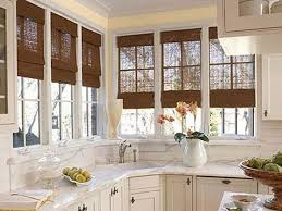 Bay Window Blinds Kitchen