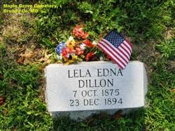 Lela Edna Dillon (1875-1894) - Find A Grave Memorial