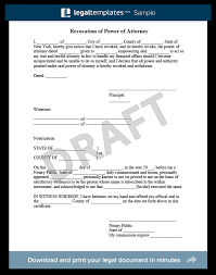 Letter For Power Of Attorney Create A Revocation Of Power Of Attorney Legaltemplates