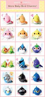 Baby bird charms, by Oborochann.  http://oborochann.deviantart.com/art/More-Baby-Bird-Charms-253154506?q =boost%3Apopular%20meta%3Aall%20max_age%3A8