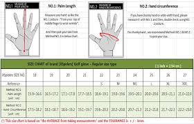 Golf Glove Hand Size Chart Taylormade Glove Size Chart Images Gloves And Descriptions