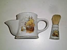 vtg shaving brush mug royal london gentlemens gifts sailing ships porcelain