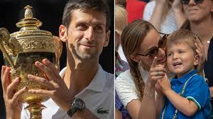 Family photo of the best tennis player novak djokovic with wife, kids. Novak Djokovic Speaks On Spending Time With His Family During Tour Suspension