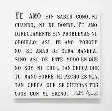 spanish pablo neruda love canvas sonnet poem romantic es bedroom art