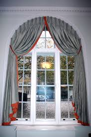 Picturesque Grey Silk Curtain For Classy Arched Windows Treatments As  Inspiring Homemade Curtain And Drapery Decors Ideas
