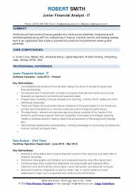 Junior Financial Analyst Resume Samples QwikResume Unique Resume Headline For Financial Analyst
