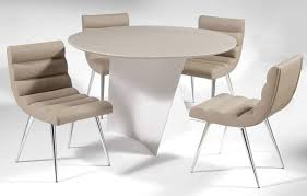 modern kitchen table and chairs. Innovative Ideas Modern Round Dining Table Set Leather Breakfast Sets And Chairs Kitchen