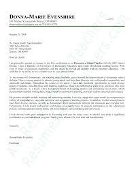 Experienced Teacher Cover Letters New Teacher Cover Letter Sample Cover Letters Examples For Teachers