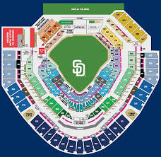 Petco Park Detailed Seating Chart The Medifast California Petco Park Healthy Eating Map