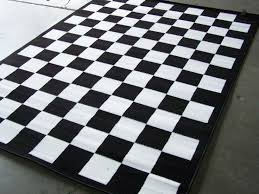 checd black and white area rug 739 x 1039 nwt home checd flag area rug