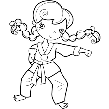 Small Picture Girl Training Karate Coloring Pages Batch Coloring