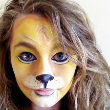 simple lion face paint casual look lion makeup girl