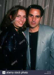 UNIVERSAL CITY, CA - FEBRUARY 6: (EXCLUSIVE) Actress Paula Smith and  husband actor Maurice Benard pose backstage