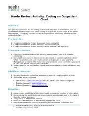 Neehr Perfect Ehr Activity Coding An Inpatient Chart Docx