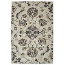 allen roth telgany beige rectangular indoor woven area rug common 5 x 8