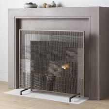 decorative fireplace screens regarding ansel plaid screen reviews crate and barrel idea 9
