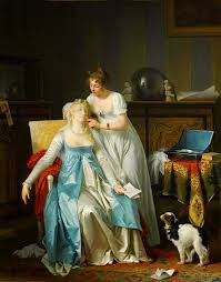 th century french women an appetite for fashion decadence a  18th century french painters ladiesbyladies la leccedilon de piano 1785 87 marguerite gerard la mauvaise nouvelle