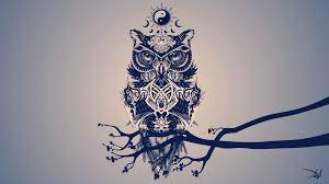 4532138 #digital art, #owl, #tribal ...