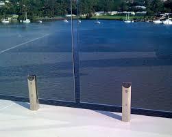 fsc frameless glass clamp railing system