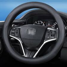 15 inch black top pvc leather car interior steering wheel cover for honda series girly steering wheel covers glitter steering wheel cover from chen331255