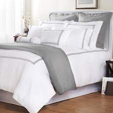 simplest ideas grey and white bedding