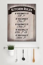 kitchen wall art kitchen rules wood