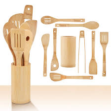 chefhq wooden kitchen utensil set