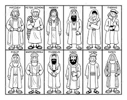 Use these printable 12 disciples flashcards to help your child learn about the 12 disciples of jesus! Coloring Page Of Jesus Twelve Disciples Stock Photo Picture And Royalty Free Image Image 126584206