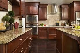 Kitchens With Cherry Cabinets Interesting Cherry Shaker Cabinets Kitchen Remodeling Photos