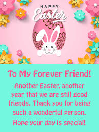 Thank You Easter Youre Wonderful Happy Easter Card For Friend Birthday