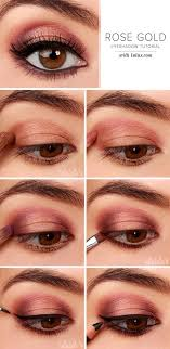 rose gold eyeshadow gorgeous easy makeup tutorials for brown eyes