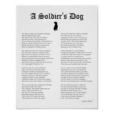 dog inspiring war poem poster zazzle