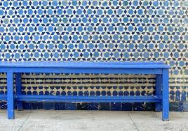 navy blue bench. Cool Blue Bench By Navy Cushion