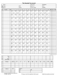 Baseball Game Scorecard Printable Scorebook Sheets Fill Online Printable