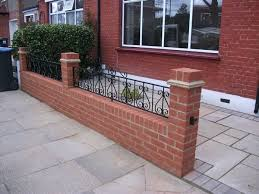 Small Picture Front Garden Brick Wall Designs Outstanding Cecillia Ideas 22