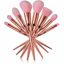 milee rose gold makeup brushes real heart taper contour powder brush professional soft pincel make up brush kits best eyeshadow best foundation brush
