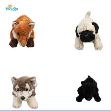 soft material cute baby wolf stuffed plush toy for children