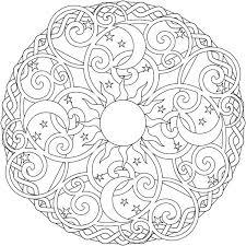 Mandala Color Sheets Sun Mandala Coloring Pages Online Inside Free
