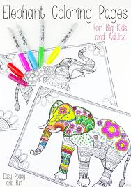 free printable elephant coloring pages for s