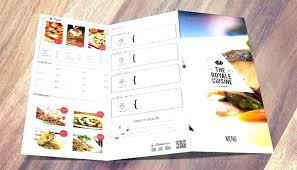 Fold Menu Template Free Trifold Tri Restaurant Food Psd F