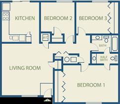 Three Bedroom Flat Plan Fresh On Classic