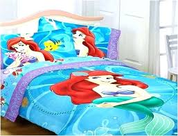 girls mermaid bedding little set designs home intended for brilliant house the bed decor full size sheets stylish lit