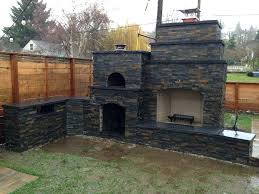 outdoor fireplace and pizza oven the family wood fired outdoor brick pizza oven outdoor fireplace in